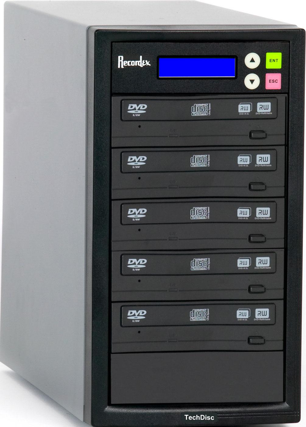 CD/DVD Duplicator with 5 Target Drives, 250 GB Hard Drive