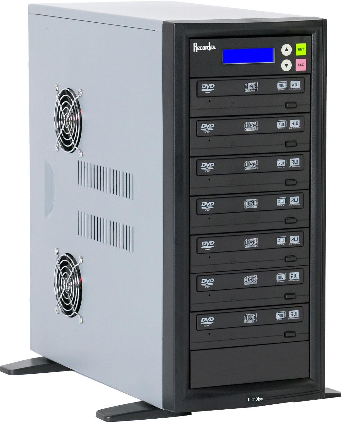 CD/DVD Duplicator with 7 Target Drives, 250 GB Hard Drive