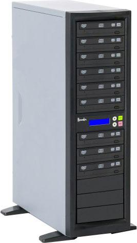 CD/DVD Duplicator with 9 Target Drives, 250 GB Hard Drive
