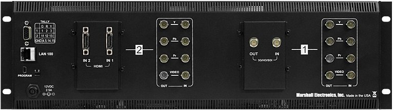 "3RU 2x7"" MD Series Rack Monitor Unit with Composite Inputs"