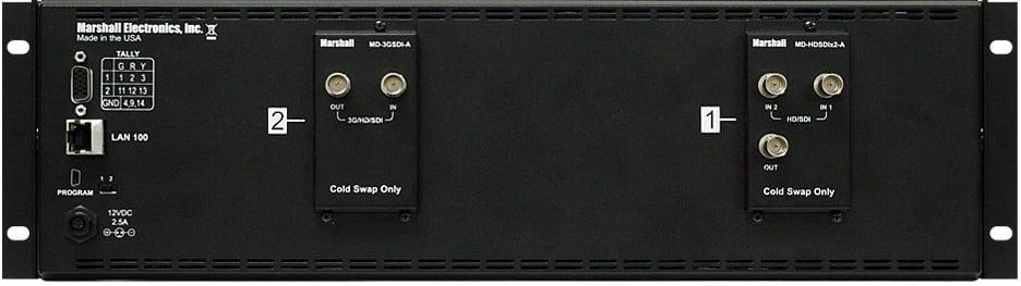 """3RU 2x7"""" MD Series LED-Backlit Rack Monitor Unit"""