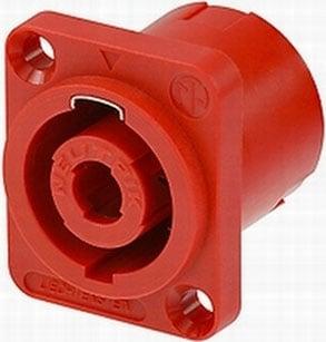 Receptacle SpeakON 4 Pole Red