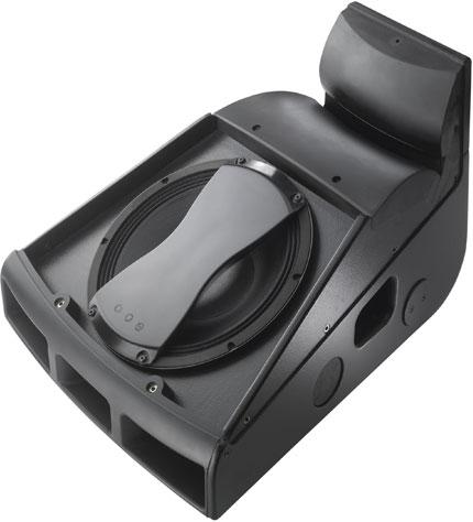 "Black 12"" 2-Way High-Powered Floor Monitor"