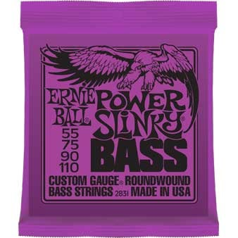 ".055-.110"" Power Slinky Electric Bass Strings"