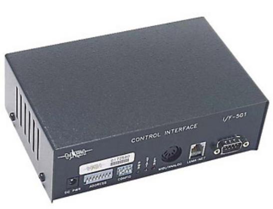 Protocol Converter and Auto Sequence Control Device. DMX512, LUMA-NET, RS232, MIDI & 0-10V