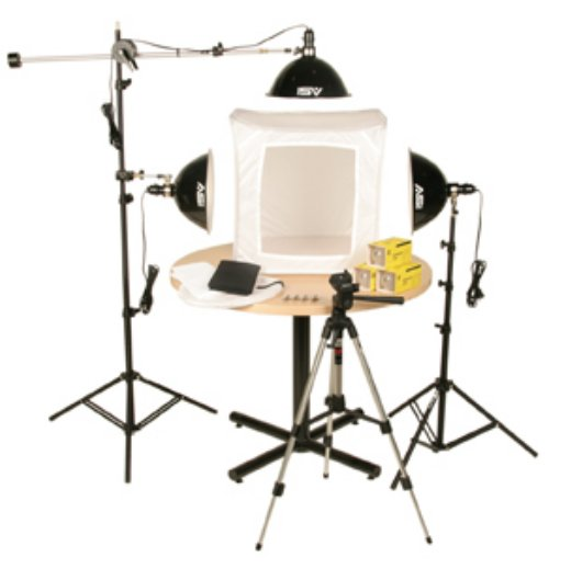 1500W 3 Light Photoflood Light Tent Kit