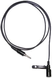 Black Cardioid Directional Lapel Mic with Clip for CRS-101 Infrared Wireless Mic System
