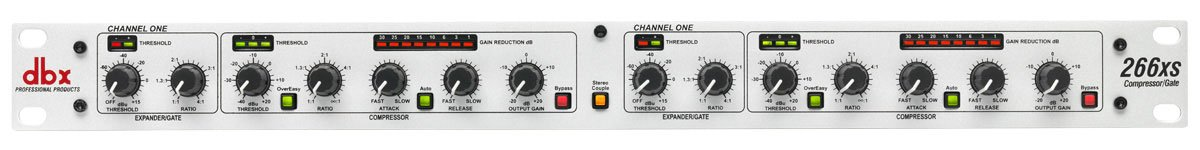 dbx 266xs dual channel compressor expander and gate full compass systems. Black Bedroom Furniture Sets. Home Design Ideas