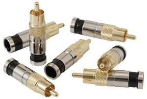 10 Pack of RCA RG6/RG6Q Compression