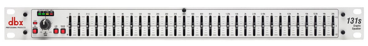 Single 31-Band Channel 1/3 Octave Graphic Equalizer