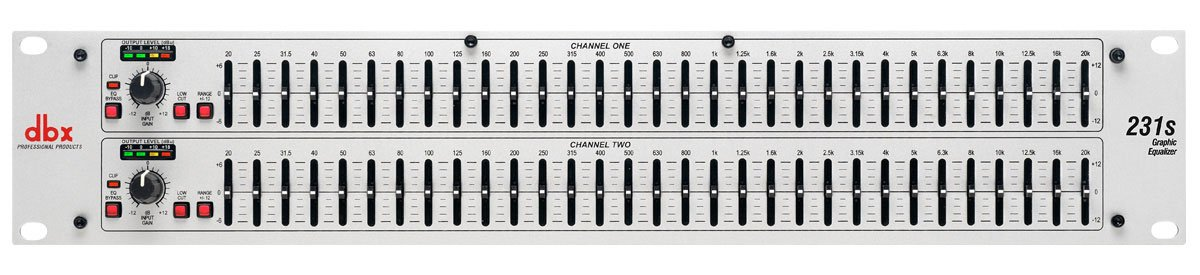 Dual 31-Band Channel 1/3 Octave Graphic Equalizer
