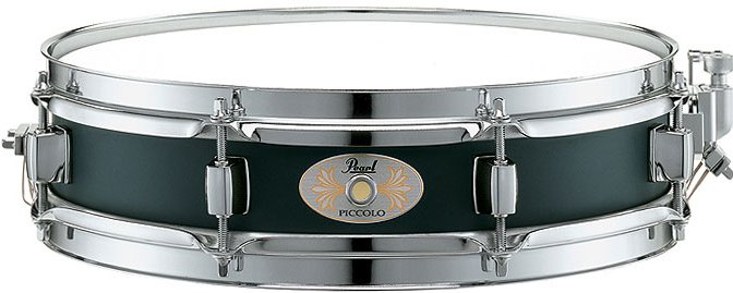 """3""""x13"""" Black Steel Piccolo Snare Drum"""