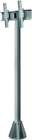 """7 ft. Black Universal Wind-Rated Outdoor Pedestal Mount for 32""""-65"""" Flat Screen Panels"""