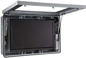 """Indoor/Outdoor Protective LCD Enclosure with Cooling Fans & Thermostat-Controlled Heater for 46""""-47"""" Screens"""