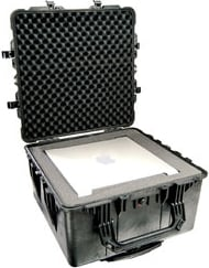 Large Transport Case with Wheels & Padded Dividers