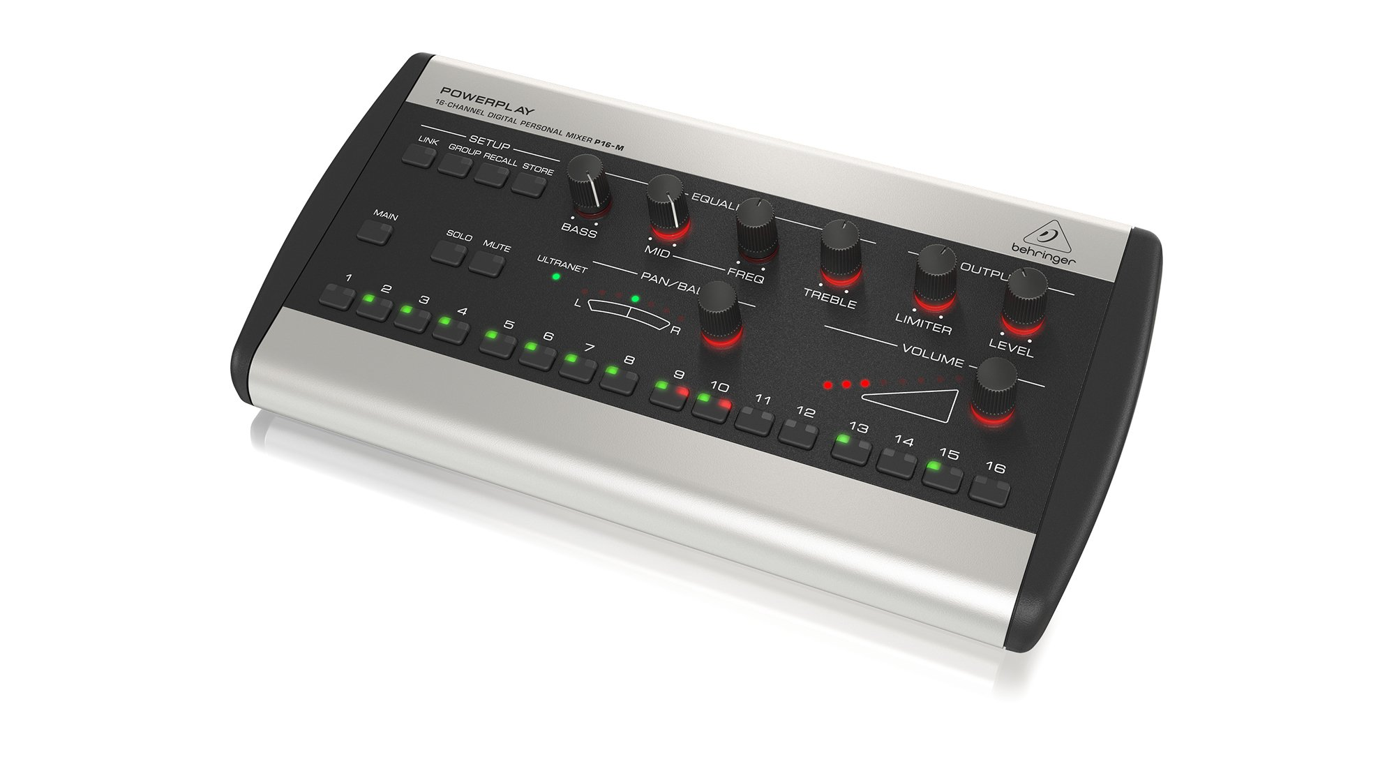 powerplay 16 channel digital personal mixer by behringer p16 m full compass systems. Black Bedroom Furniture Sets. Home Design Ideas