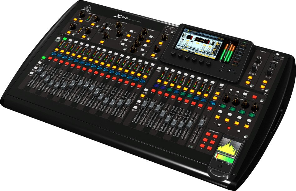behringer x32 32 channel digital mixer console full compass. Black Bedroom Furniture Sets. Home Design Ideas