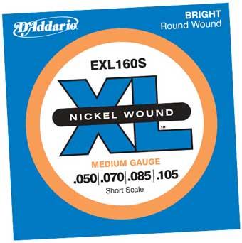 Medium XL Nickel Short Scale Electric Bass Strings