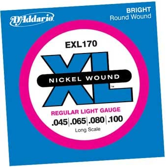 ".045-.100"" XL Nickel Long Scale Electric Bass Strings"