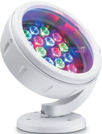 White ColorBurst 6 LED Fixture with 10° Beam Angle