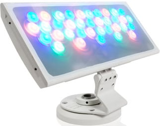 Black ColorBlast 12 LED Fixture with 22° Beam Angle