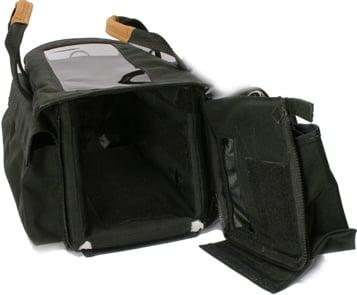 """Black Audio Organizer Case (14 x 6 x 8"""" Interior)"""