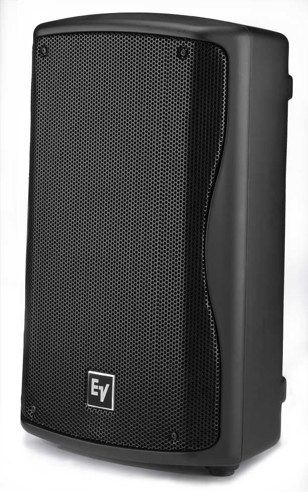 Black Amplified Speaker with 90° x 50° Coverage Pattern
