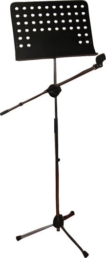 Combination Sheet Music and Microphone Boom Stand
