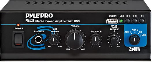 Mini 2x40W Stereo USB Amplifier with USB/AUX Inputs