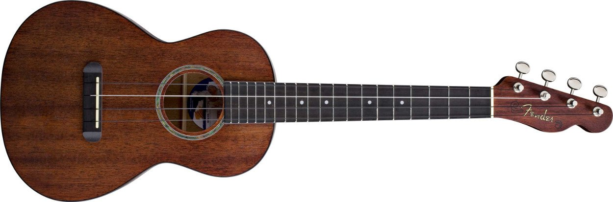Natural Mahogany Folk Music Series Tenor Ukulele with Wound C