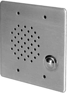 3-Gang Stainless Steel In-Wall Call-In Station with 45 Ohm Voice Coil