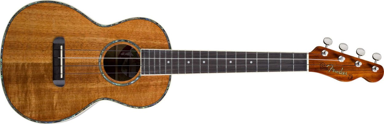 Fender Ukulele Nohea Natural Koa Tenor Folk Music Series Tenor Ukulele with Wound C String UKULELE-NOHEA