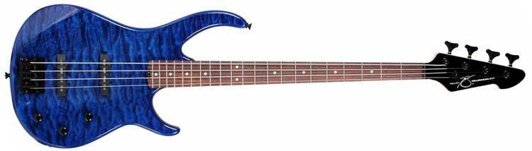 4-String Passive Electric Bass Guitar in Transparent Finishes