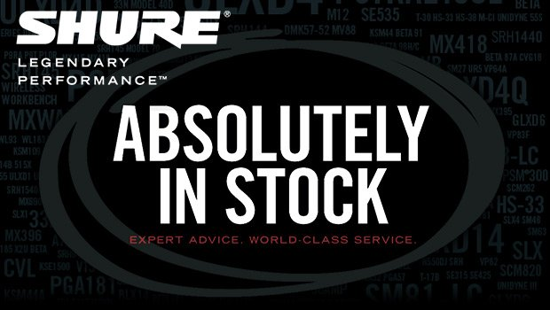 Absolutely In Stock- Full Compass stocks a huge inventory of Shure gear!
