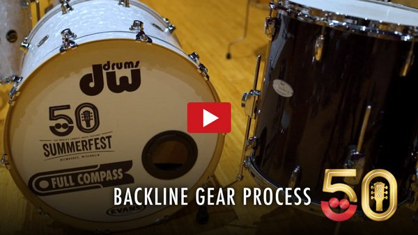 Backline Gear Process Coming Back From Summerfest