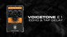TC Helicon VoiceTone E1 Vocal Echo & Delay Effects Pedal Review