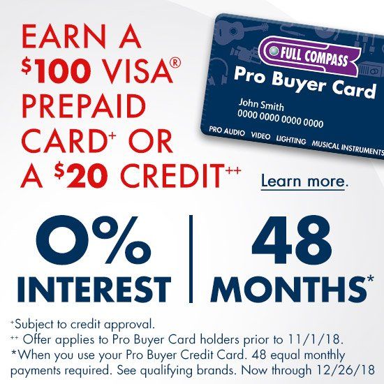 Pro Buyer Card Financing - 0% Interest for 36months