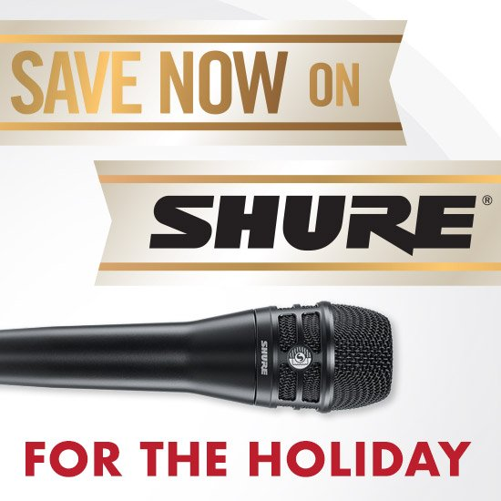 Shure Holiday Rebates