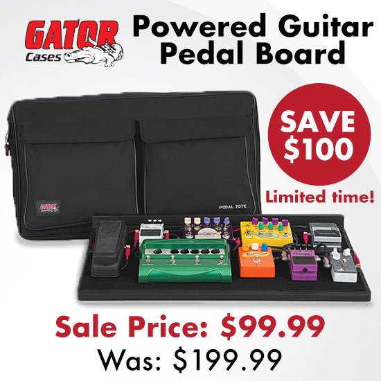 Save $100 on Gator - Powered Guitar Pedal Board