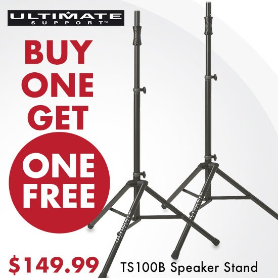 Buy One Get One FREE - TS100B Speaker Stand