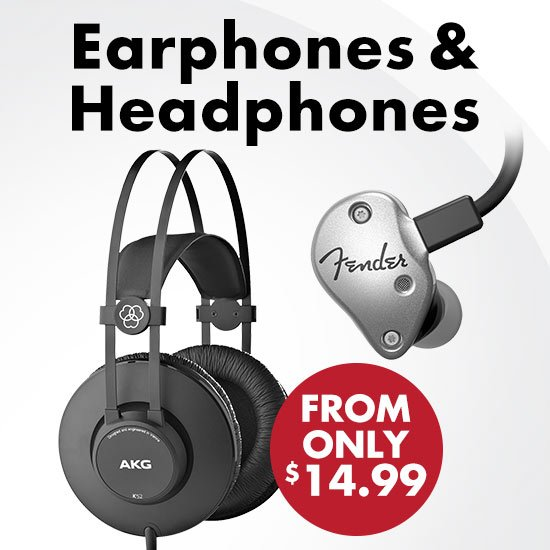 Earphones & Headphones from only $14.99se - Instant Rebates!