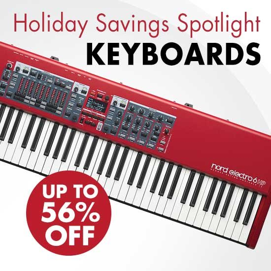 Holiday Savings on Keyboards