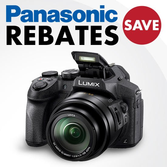 Rebates on Panasonic Cameras - SAVE