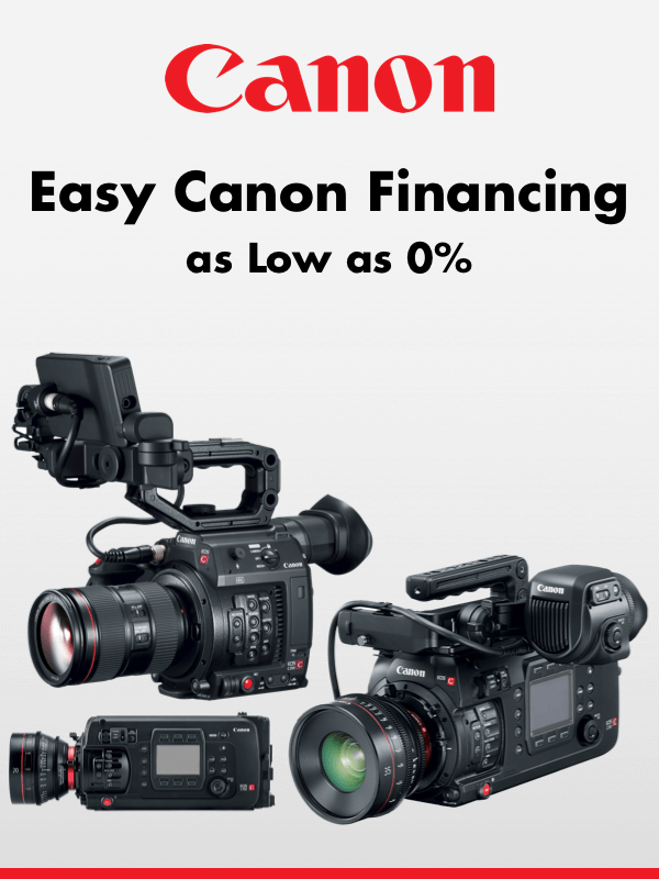 Easy Canon Financing as Low as 0%