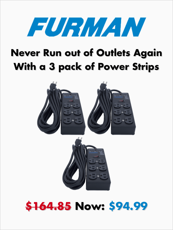 Furman 3 pack of Power Strips