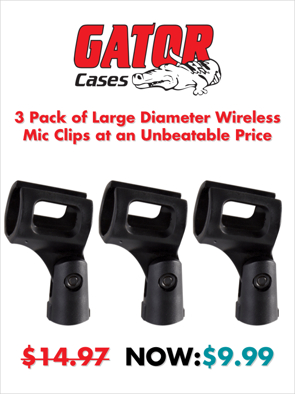 Gator Premium Wireless Mic Clips
