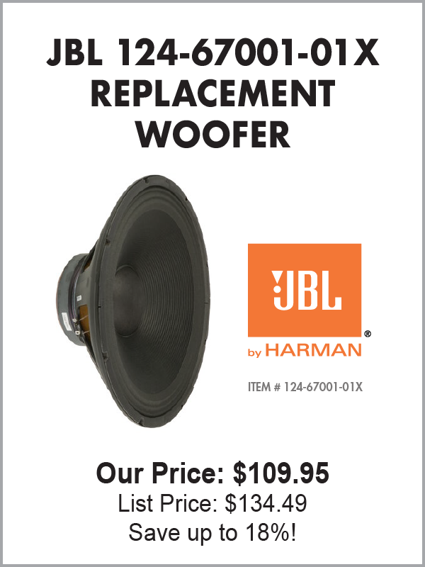JBL 124-67001-01X Replacement Woofer - JBL by HARMAN