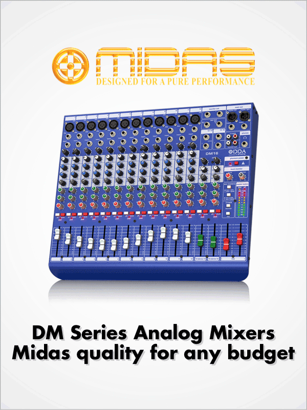 Midas DM Series Analog Mixers