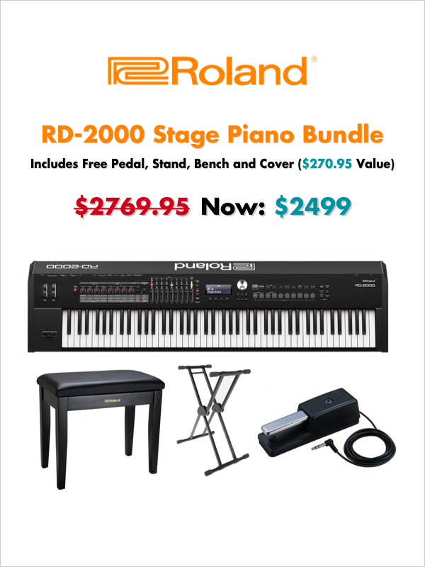 Includes Free Pedal, Stand, Bench and Cover ($270.95 Value)