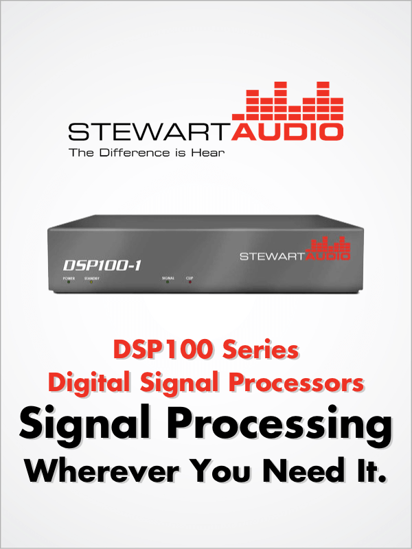 Stewart Audio DSP100 Series Amplifiers